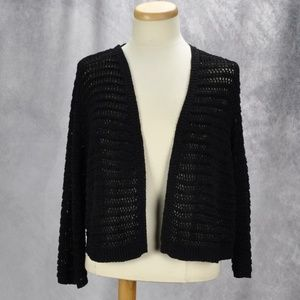 Calvin Klein Open-Front Cropped Cardigan Sweater